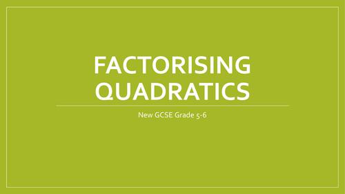 Factorising three term quadratics without a coefficient.