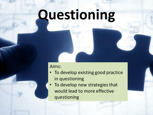 Questioning / Higher Order thinking skills - Socratic Blooms CPD Staff training & development