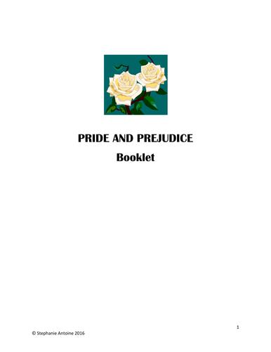 Pride and Prejudice booklet