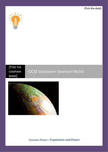 Geography Snapshot Notes