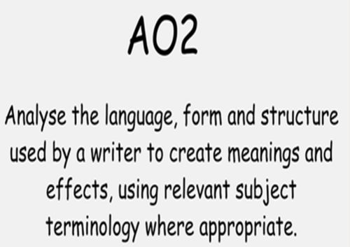 Analysing Structure - AQA Lang Paper 1 Question 3