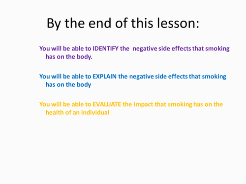 Healthy living - Anti smoking - dangers and effects