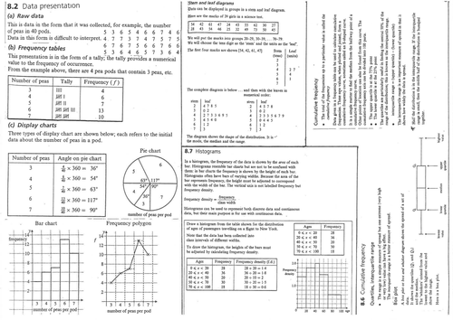 Statistics & Probability Worksheets_various By Mrvman