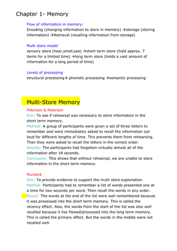 GCSE PSYCHOLOGY WHOLE OF UNIT 2 ADDITIONAL NOTES by An245 | Teaching