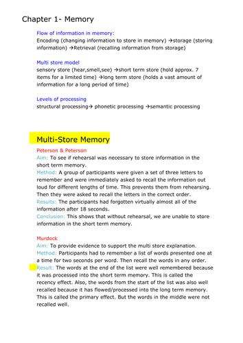 GCSE Psychology Notes