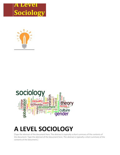 A Level Sociology Revision Notes