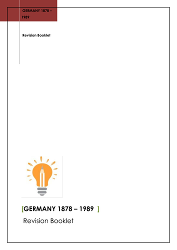 Germany Revision Booklet 1878 – 1989