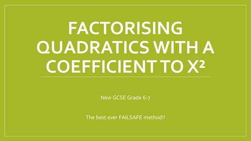 Factorising harder quadratics with a coefficient to x^2