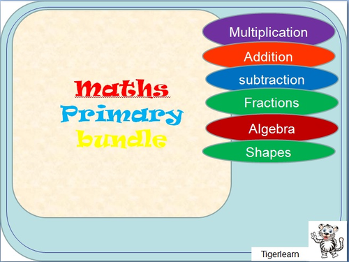 17 piece primary Maths Bundle + 2 generic game PPTs