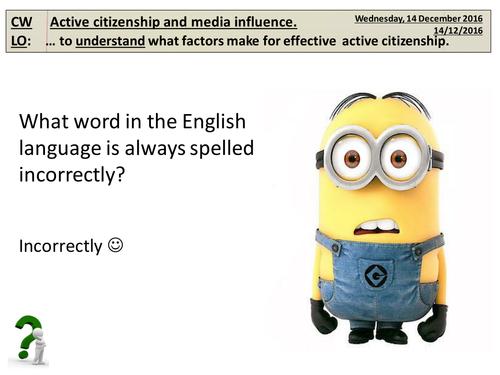 1. Active Citizenship