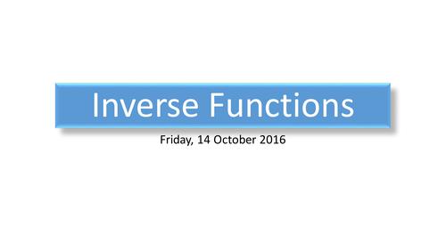 Inverse Functions (GCSE)