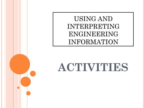 ENGINEERING - Using and Inturpreting Engineering Information