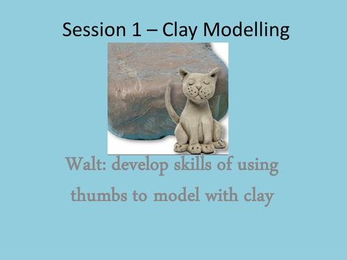 3D Artwork Scheme of Work - Clay Modelling - Diva Lamps