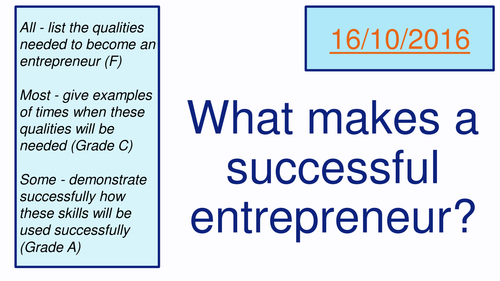 Enterprise Skills (AQA Business Studies)