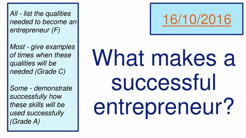 Enterprise Skills (AQA Business Studies)