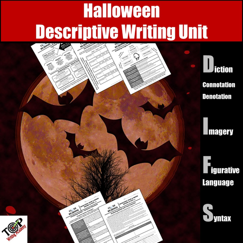 Halloween Descriptive Writing Activities (Figurative Language & Imagery)