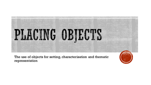 Creative Writing - Placing Objects