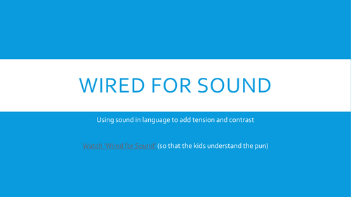 Creative Writing - Using Sound to create imagery - plosives, fricatives, sibilance, etc.