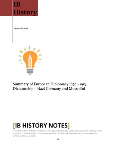 IB History Revision Notes