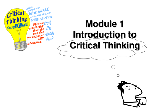 Critical Thinking Module including Workbook