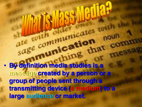 Media Studies Module