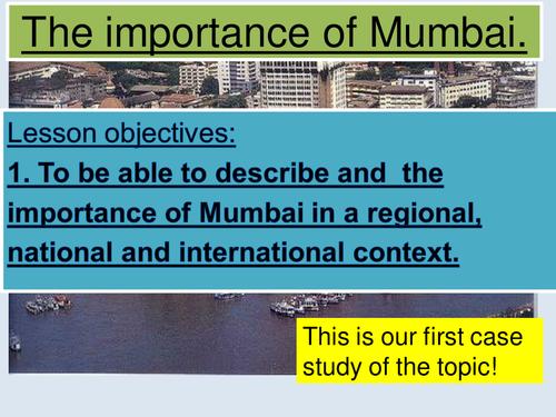 NEW AQA GCSE Geography- Importance of MUMBAI