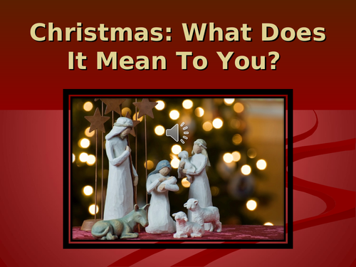 PP Assembly: What Does Christmas mean today?
