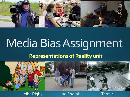 Analysing Documentaries and articles - Explaining assessment and example PowerPoint
