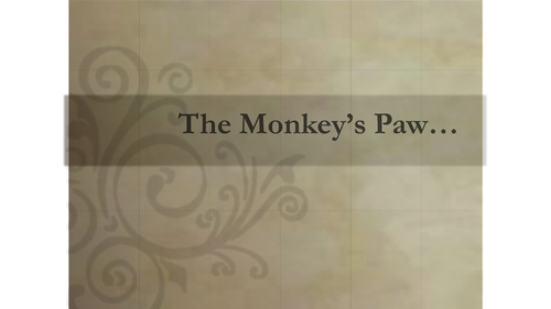 The Monkey's Paw lesson