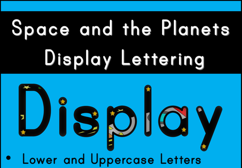 Space and the Planets Display Lettering by PollyPuddleduck ...