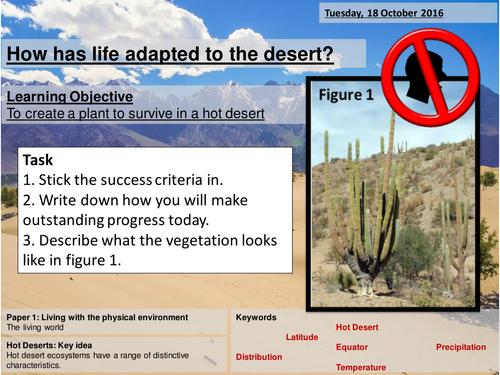 Adaptations in the Hot Desert - AQA 2016 - GCSE - Living World