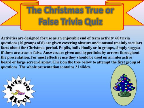 Christmas Trivia Questions.True Of False Christmas Trivia Challenge