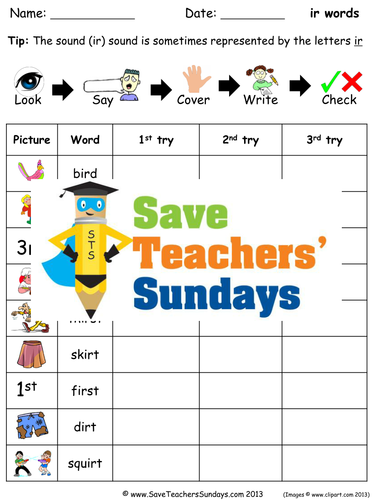 Ir words spelling worksheets and dictation sentences for year 1 by ir words spelling worksheets and dictation sentences for year 1 by saveteacherssundays teaching resources tes ibookread ePUb