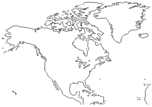 Early Years Asia Resources - Large world map outline
