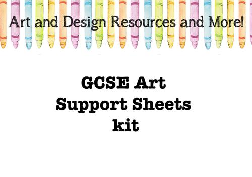 GCSE Art Support Sheets kit