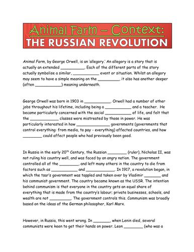 animal farm analysis russian revolution