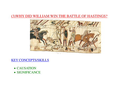 why did william win the battle of hastings essay plan