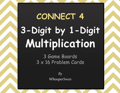 3-Digit by 1-Digit Multiplication - Connect 4 Game