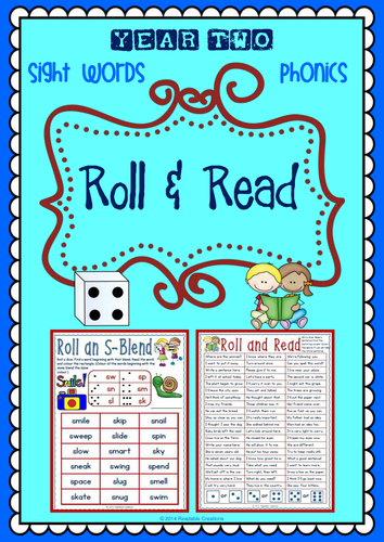 Year 2 Phonics & Sight Word Pack – Roll and Read