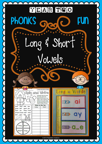 Year 2 Phonics Pack – Long and Short Vowels