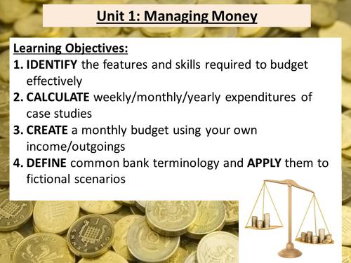 Functional Skills Maths - Managing money (E-L1)