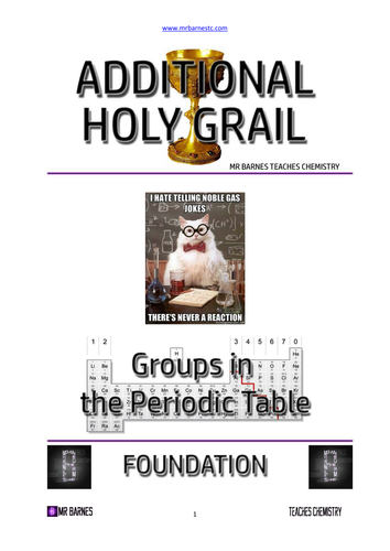 C2: Edexcel Groups in the Periodic Table Revision Booklet