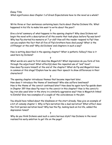 Essay chapter one great expectations phd thesis writing