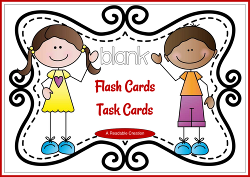 Blank Flash Cards – Task Cards {Freebie}