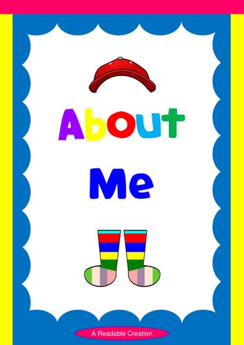 About Me - Activity Sheets (K-6)