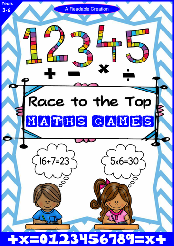 Maths Games – 'Race to the Top' {Addition, Subtraction, Multiplication, Division}