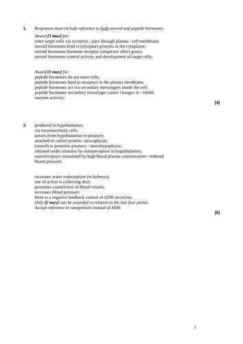 A-Level Biology B Edexcel – Topic 9 – L2 Chemical control in mammals