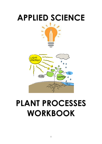 Applied Science - Plants Processes Workbook