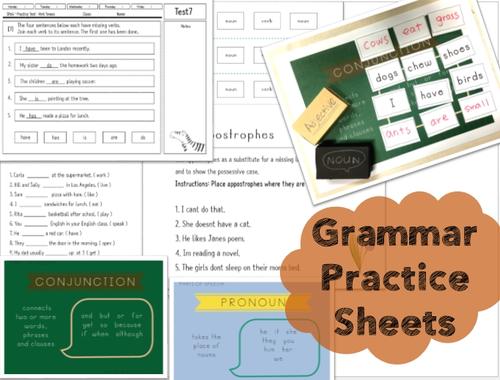 Daily Grammar Practice Worksheets
