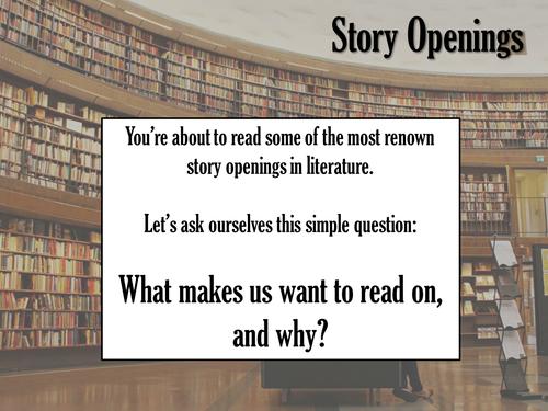 KS3 / KS4 Analysis of Story Openings - Creative Writing, Descriptive Writing